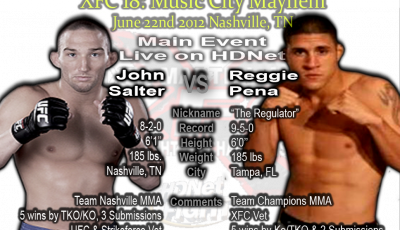 XFC 18 Main Event John Salter vs Reggie Pena Live on HDNet