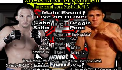 XFC 18 Main Event John Salter vs Reggie Pena Live on HDNet