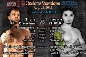 XFC 19 Shane Crenshaw vs Jason Hicks Live on AXStv | officialxfc.com