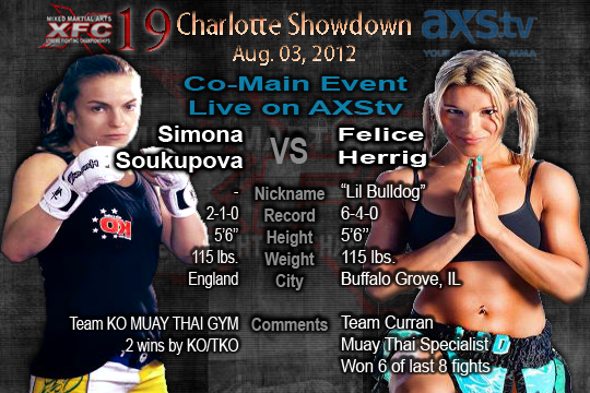 XFC 19 Co-Main Event Simona Soukupova vs Felice Herrig Live on AXStv | officialxfc.com/xfc19
