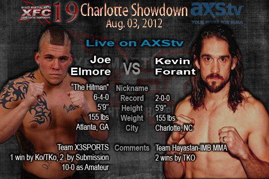 XFC 19 Joe Elmore vs Kevin Forant Live on AXStv | officialxfc.com