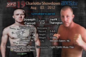 XFC 19 Joseph Carroll vs Jeff Tharington Undercard | OfficialXFC.com/xfc19