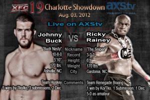 XFC 19 Johnny Buck vs Ricky Rainey Live on AXStv | officialxfc.com/xfc19