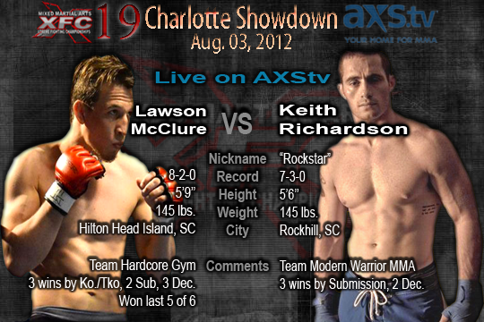 XFC 19 Lawson McClure vs Keith Richardson Live on AXStv | officialxfc.com