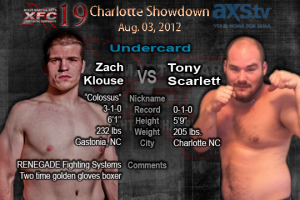 XFC 19 Zach Klouse vs Tony Scarlett Undercard |OfficialXFC.com/xfc19