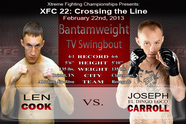 XFC 22 Cook vs Carroll TV Swingbout | officialxfc.com/xfc22