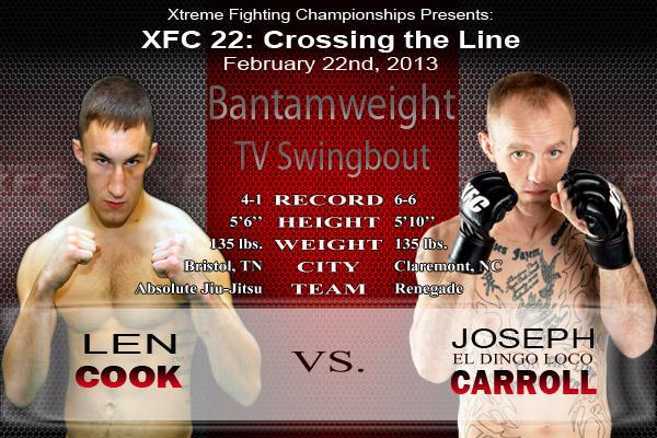 XFC 22 Cook vs Carroll TV Swingbout | officialxfc.com/xfc22