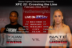 XFC 22 Owens vs Landwehr Live on Axstv | officialxfc.com/xfc22