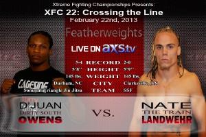 XFC 22 Owens vs Landwehr Live on Axstv | officialxfc.com/xfc22