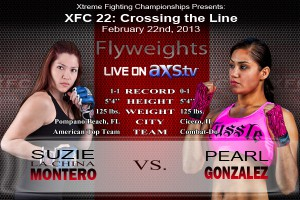 XFC 22 Suzie Montero vs Gonzalez Live on AXStv | officialxfc.com/xfc22