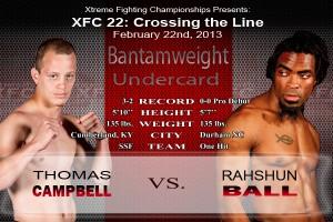 XFC 22 Undercard Thomas Campbell vs Rahshun Ball | officialXFC.com/xfc22