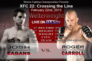 XFC 22 Eagans vs Carroll Live on Axstv | officialxfc.com/xfc22