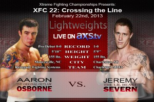 XFC 22 Severn vs Osborne Live on AXStv | officialxfc.com/xfc22