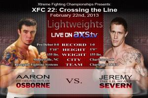 XFC 22 Severn vs Osborne Live on AXStv | officialxfc.com/xfc22