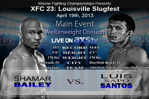 XFC 23 Bailey vs Santos Main Event Live on Axstv | officialXFC.com/xfc23