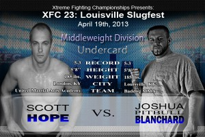 XFC 23 Undercard Scott Hope vs Joshua Blanchard | OfficialXFC.com/xfc23