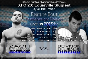 XFC 23 Zach Underwood vs Deivision Ribeiro Live on Axstv | officialXFC.com/xfc23