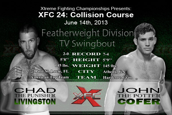 XFC 24 Chad Livingston vs John Cofer TV Swingbout