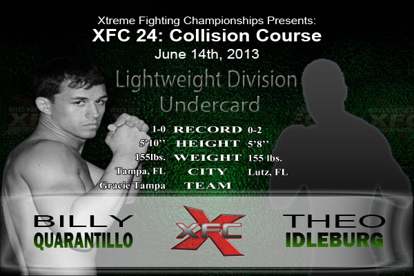 XFC 24 Billy Quarantillo vs Theo Idleburg Undercard
