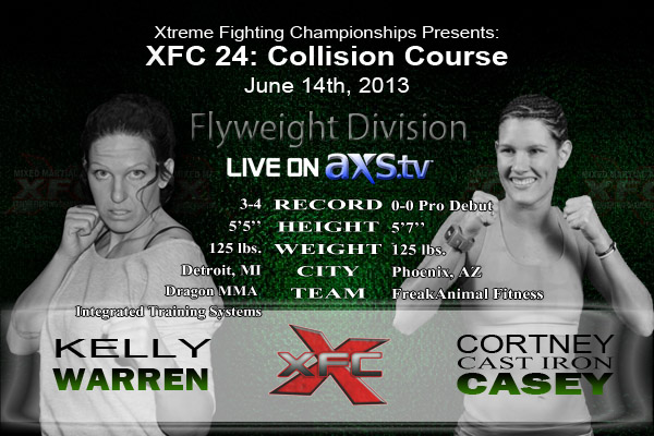 XFC 24 Kelly Warren vs Cortney Casey Live on Axstv