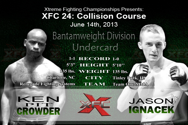 XFC 24 Ken Crowder vs Jason Ignacek Undercard