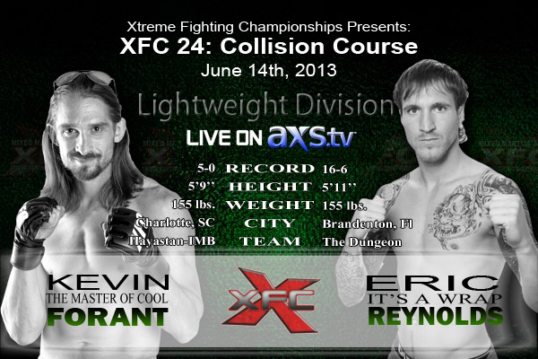 XFC 24 Kevin Forant vs Eric Reynolds Live on Axstv