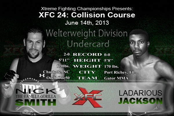 XFC 24 Nick Smith vs Ladarious Jackson Undercard