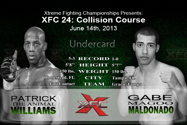 XFC 24 Patrick Williams vs Gabe Maldonado Undercard