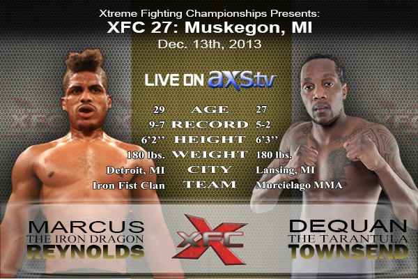 XFC 27 - Marcus Reynolds vs Dequan Townsend Live on Axstv
