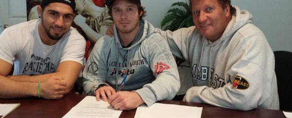 Troy Gerhart contract signing
