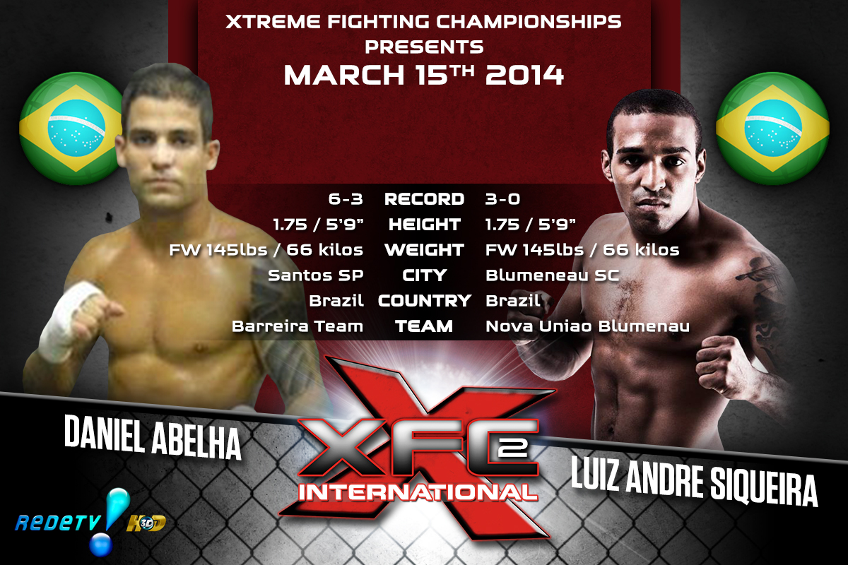 XFCi2: March 15th - Tale of the Tape - Abelha vs Siqueira
