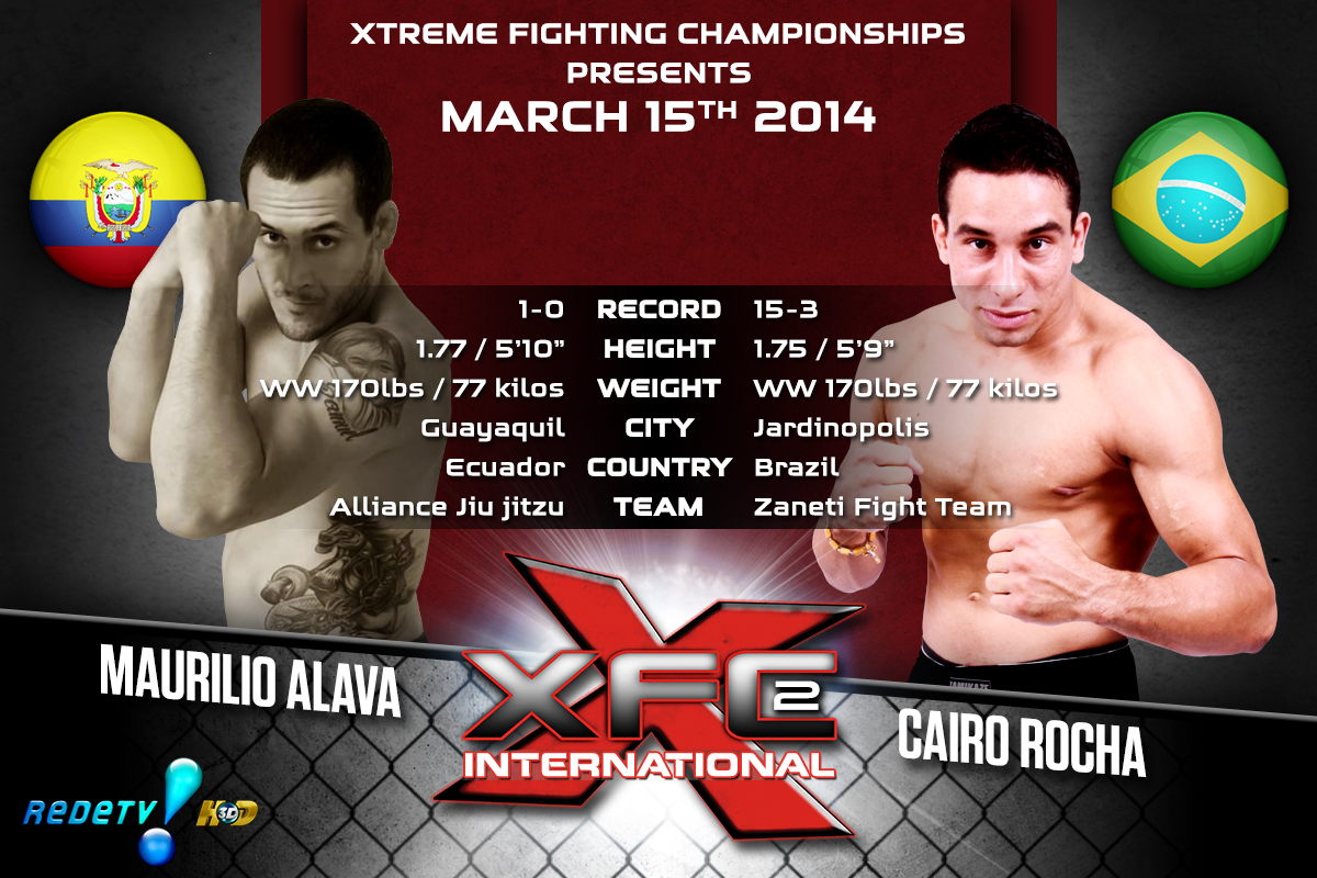 XFCi2: March 15th - Tale of the Tape -  Alava vs. Rocha