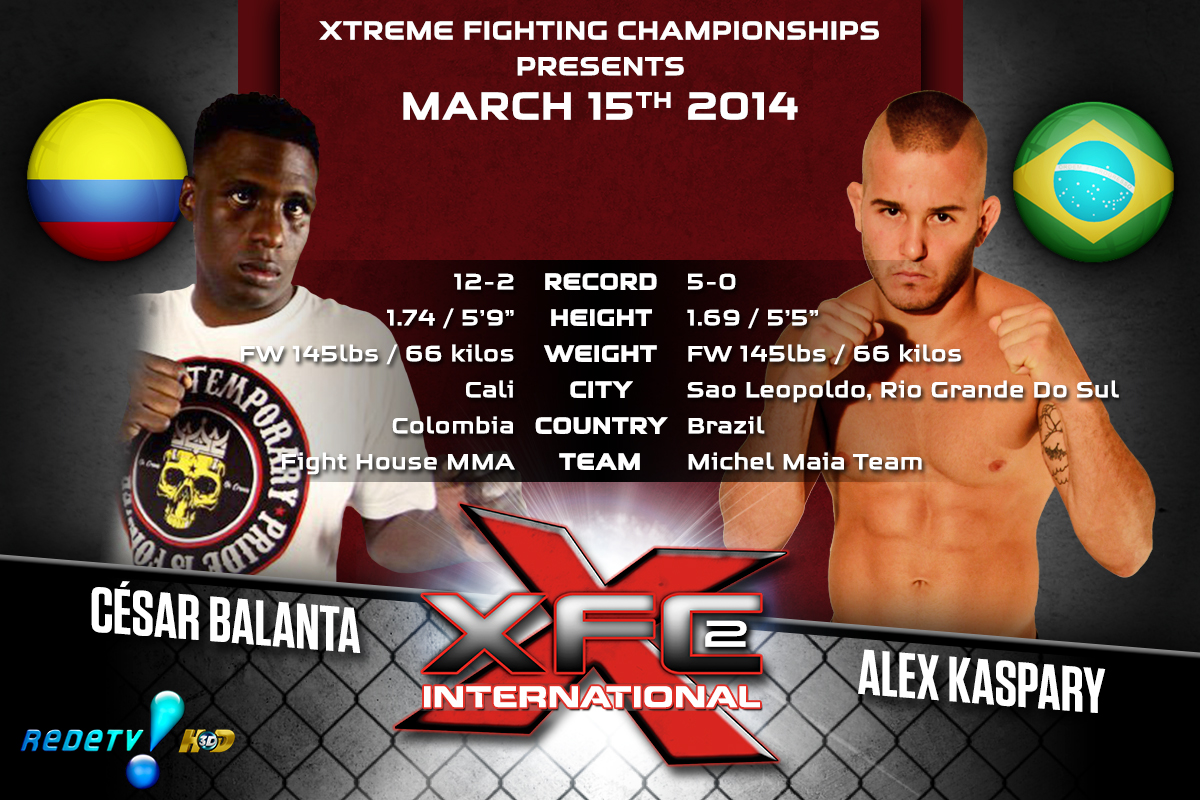 XFCi2: March 15th - Tale of the Tape - Balanta vs. Kaspary