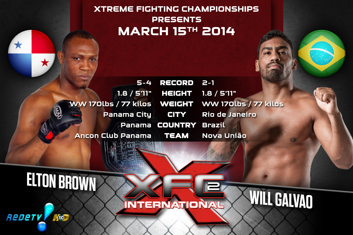 XFCi2: March 15th - Tale of the Tape - Brown vs. Galvao