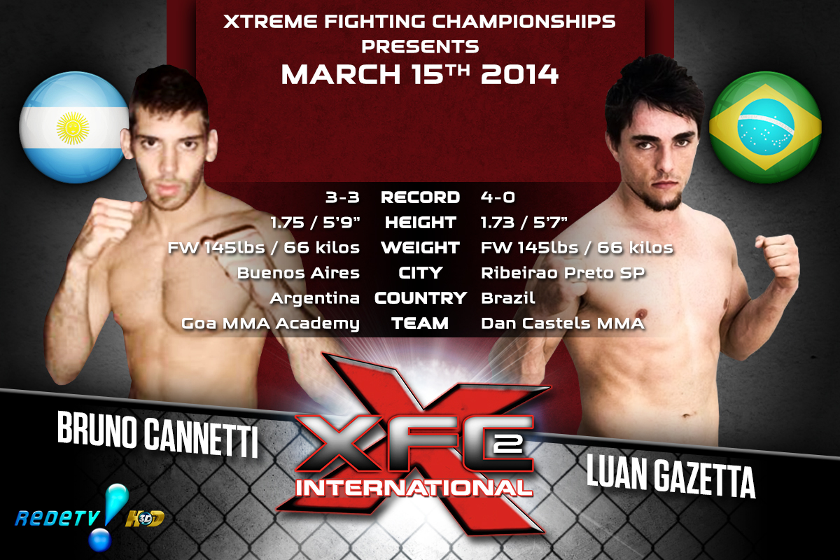 XFCi2: March 15th - Tale of the Tape - Cannetti vs. Gazetta