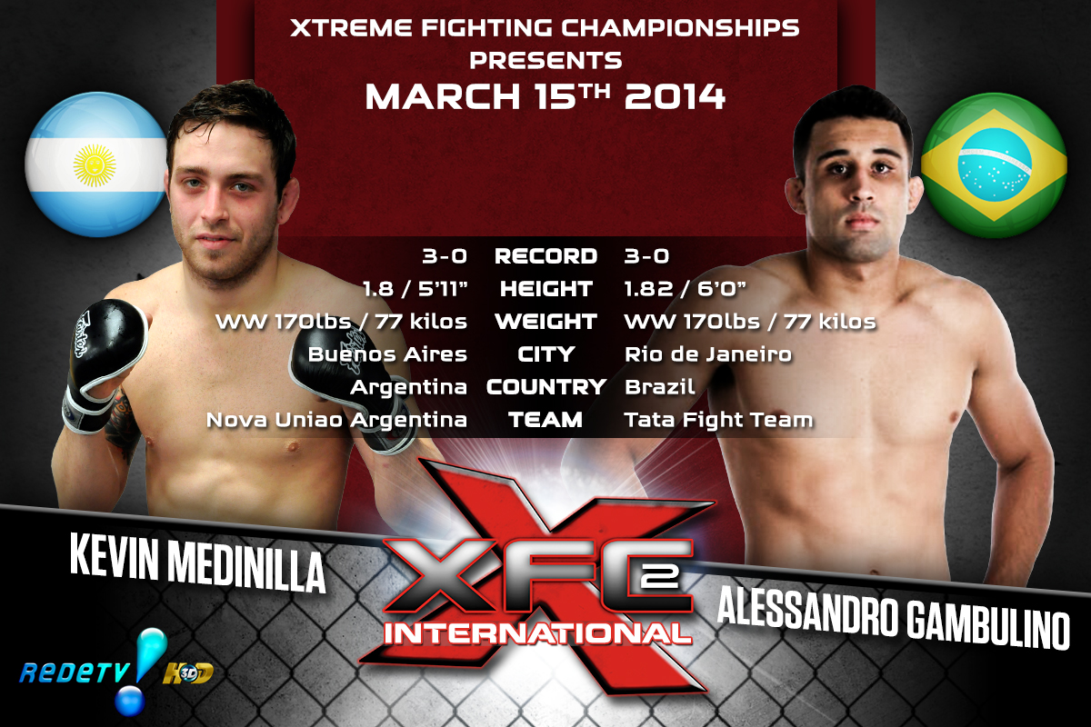 XFCi2: March 15th - Tale of the Tape - Medinilla vs. Gambulino