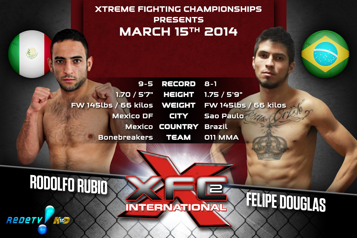 XFCi2: March 15th - Tale of the Tape - Rubio vs. Douglas