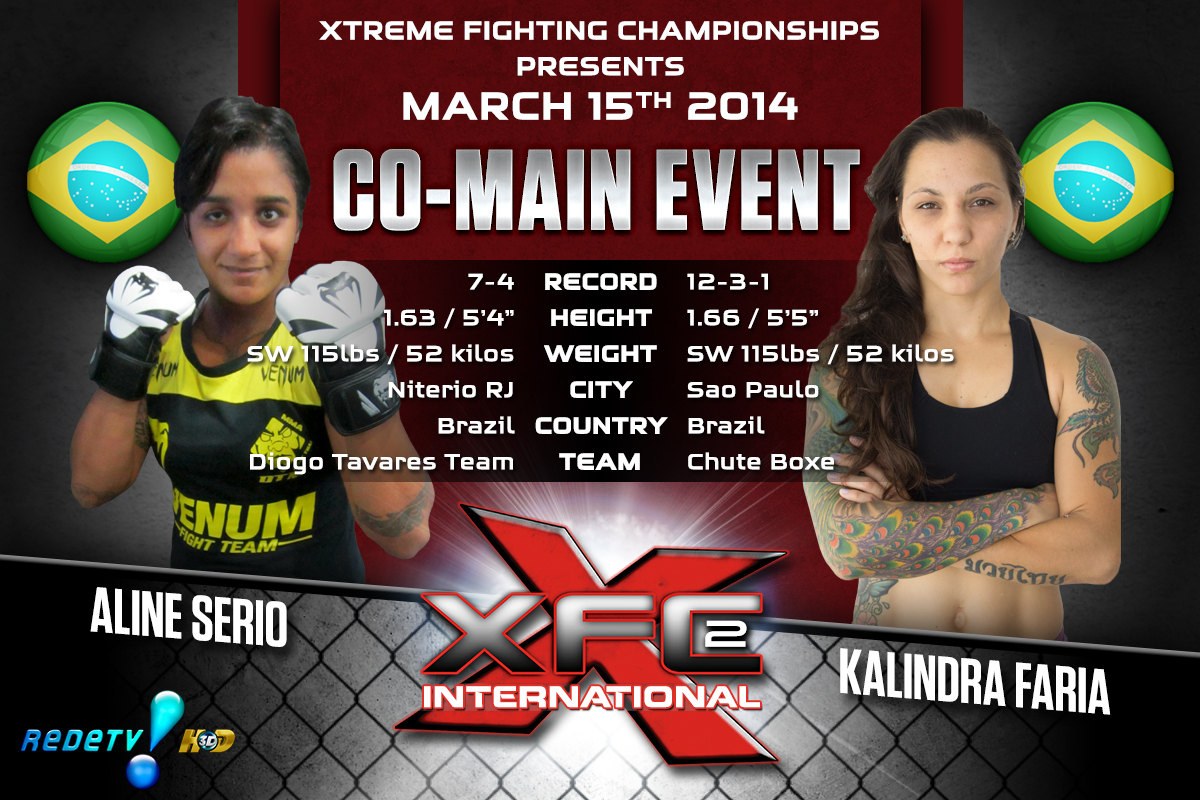 XFCi2: March 15th - Tale of the Tape - Serio vs. Faria