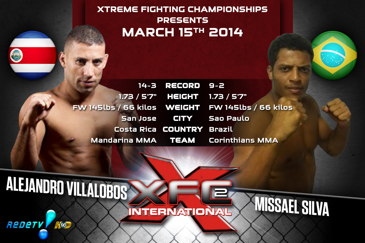 XFCi2: March 15th - Tale of the Tape - Villalobos vs. Silva