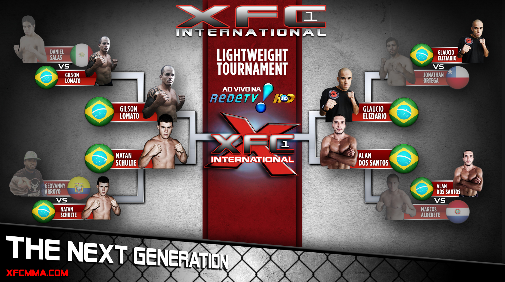 XFCi Lightweight Tournament Semi-Finals Bracket