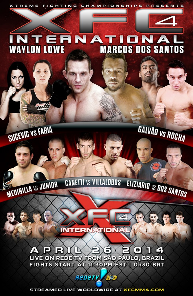 XFCi 4: Sao Paulo, Brazil - April 26th, 2014